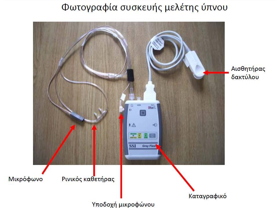 Η συσκευή για τη μελέτη ύπνου στο σπίτι σας
